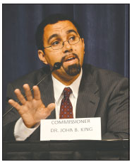 New York State Education Commissioner John King speaks briefly at the start of the public forum. <br /><!-- 1upcrlf --><br /><!-- 1upcrlf -->CLAIRE K. RACINE|WESTMORE NEWS