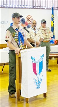 A Port Chester Boy Scout earns his talons and becomes an honorary bird of prey