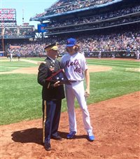 Local veteran honored at home plate of Citi Field