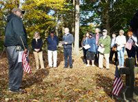 Forty people gather at cemetery to celebrate Veterans Day